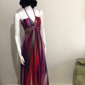 Vibrant Sky Braided Jolima Maxi Dress size small